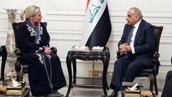 عبد المهدي وبلاسخارت يبحثان سبل دعم الحكومة الجديدة
