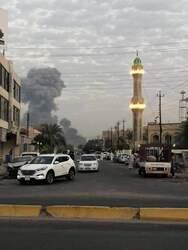 بغداد تصحو على صوت دوي انفجار قوي وانبعاث دخان اسود داكن (صورتان)