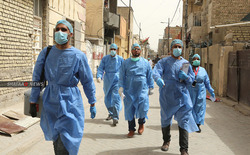 العراق يخصص اماكن حجر للكوادر الصحية المصابة بكورونا بعد تزايد عددهم