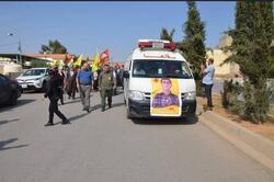 صور.. تشييع كركوكي قتل بمعارك مع الجيش التركي بسوريا