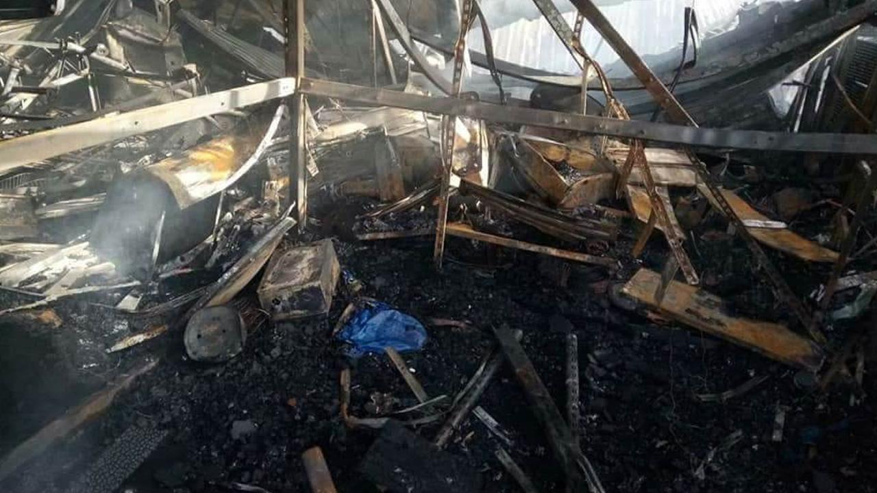 السيطرة على حريق بسوق شعبية قرب القلعة الاثرية وسط اربيل