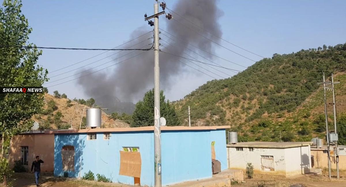 المدفعية التركية تقصف قرية في دهوك