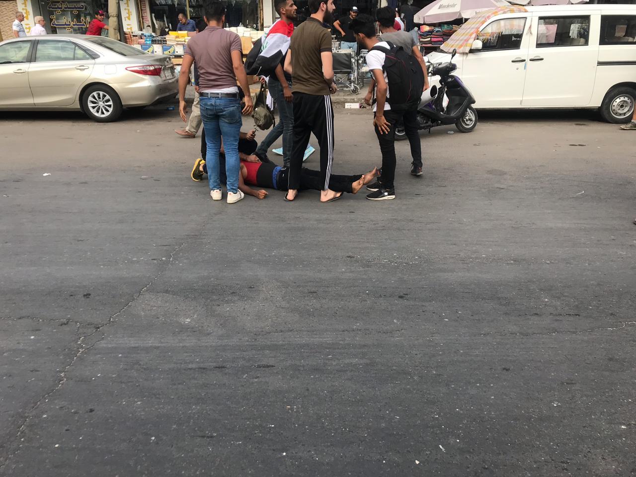 """""""سرايا الخراساني"""" ترد على اتهامها في قتل المحتجين وقمع التظاهرات في العراق"""
