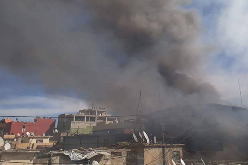 حريق كبير قرب تجمع احتجاجي ببغداد و7 فرق تحاول احتوائه