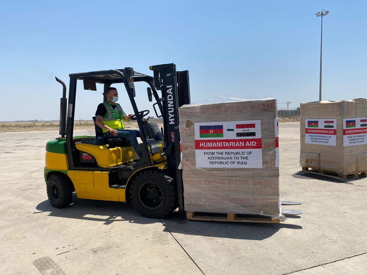 العراق يتسلّم 25 طناً من المساعدات الطبية من آذربيجان