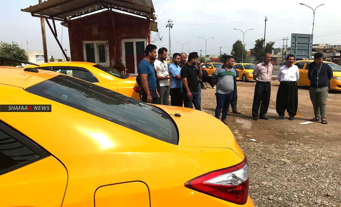 احتجاج لأكثر من 100 سائق خط كركوك – أربيل