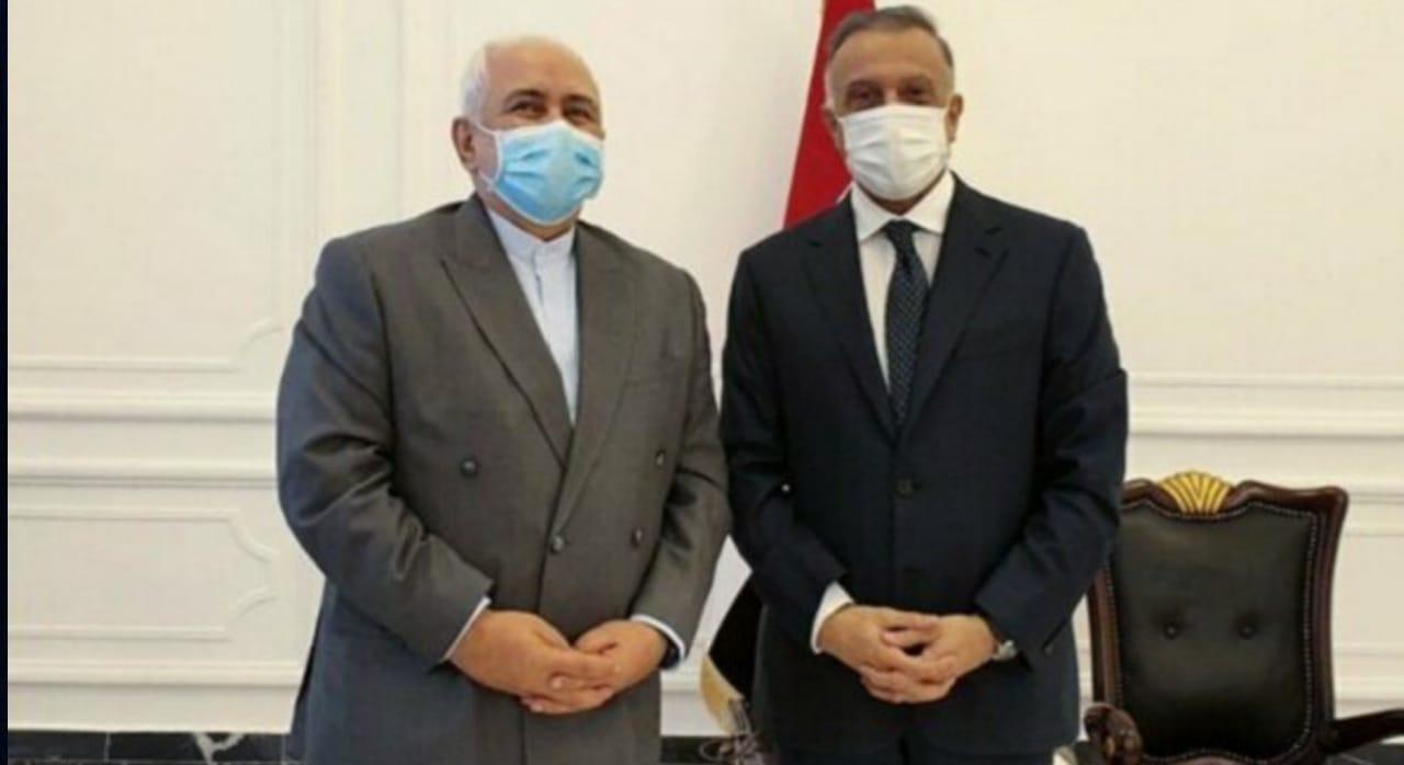 الكاظمي وظريف يبحثان المتغيرات الاقليمية والعالمية والاوضاع في العراق