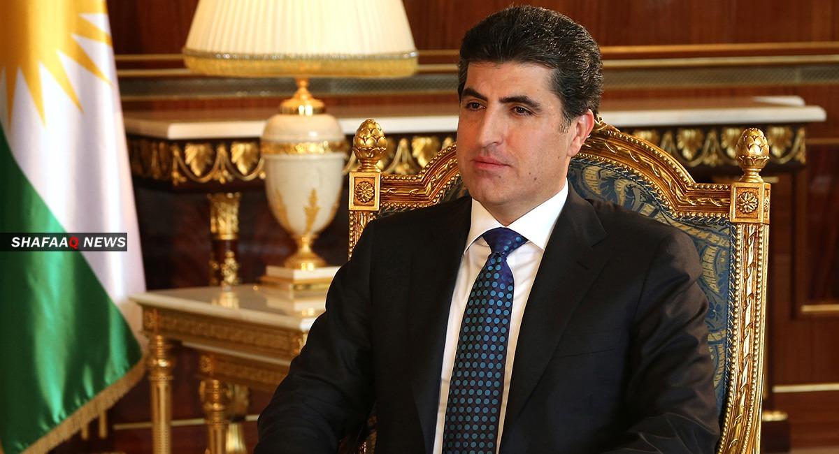 رئيس اقليم كوردستان يلتقي الرئيس الفرنسي في بغداد