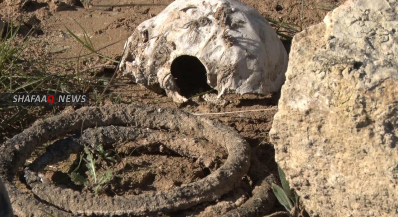 نيران تأكل مقبرة جماعية لضحايا أيزيديين