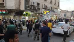 مصابون بين صفوف محتجين اثر صدامات مع القوات الامنية اقصى جنوب العراق