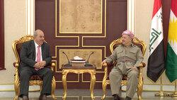 علاوي لبارزاني: العراق بحاجة لدوركم المؤثر في حماية الديمقراطية