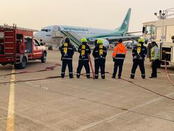"بالصور.. حالة طوارئ بمطار بغداد بسبب ""جسم غريب"" قادم من إيران"
