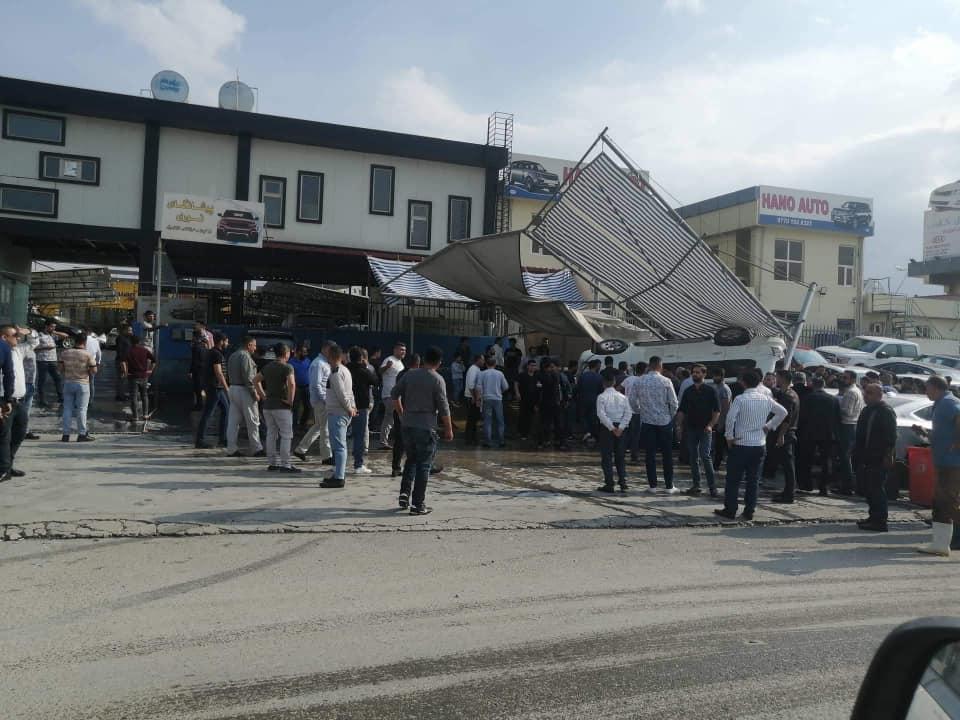صورة .. جرحى بحادث اصطدام مروع بين 5 سيارات وسط السليمانية