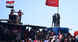 احتجاجات امام مكتب البرلمان العراقي جنوب البلاد