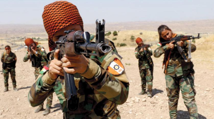 مقاتلات كورديات من ايران يتدربن ويدافعن في إقليم كوردستان