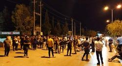 بالصور.. تظاهرات في احد اقضية السليمانية ضد حظر التجول