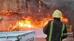 وفاة عامل باندلاع حريق في مستودع للوقود في اربيل