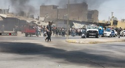 صور ..  حرق اطارات وقطع طريق بتظاهرة في كركوك والأمن يفرق المحتجين
