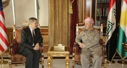 السفير الامريكي بأول اجتماع له مع بارزاني يبلغه امرا بشأن العلاقات بين اربيل وبغداد