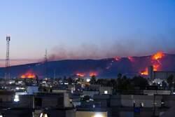 احراق 25 دونما من حقول قمح تابعة لفلاح كوردي جنوب كركوك