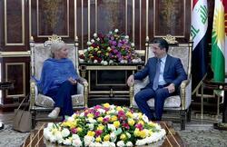 بارزاني يحدد لمسؤولة اممية الهدف الرئيس من الحوار بين اربيل وبغداد