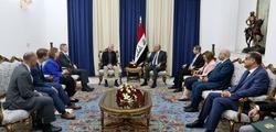 الرئيس العراقي يبحث مع وفد امريكي دعمم خطط الاصلاحية
