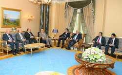 بارزاني واللجنة العليا المشتركة يؤكدان على حل لمشاكل بغداد والاقليم وفق الدستور