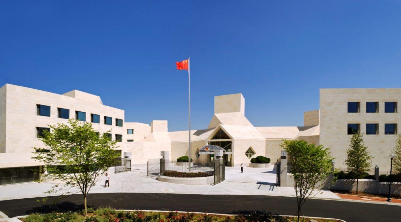 China's embassy in Washington receives threats