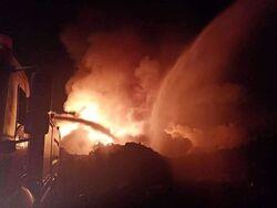اندلاع حريق في معمل لصناعة حديد التسليح في السليمانية