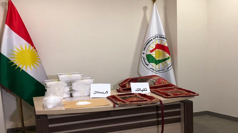 آسايش اقليم كوردستان تحبط عملية تهريب 8 كغم من المخدرات الى تركيا