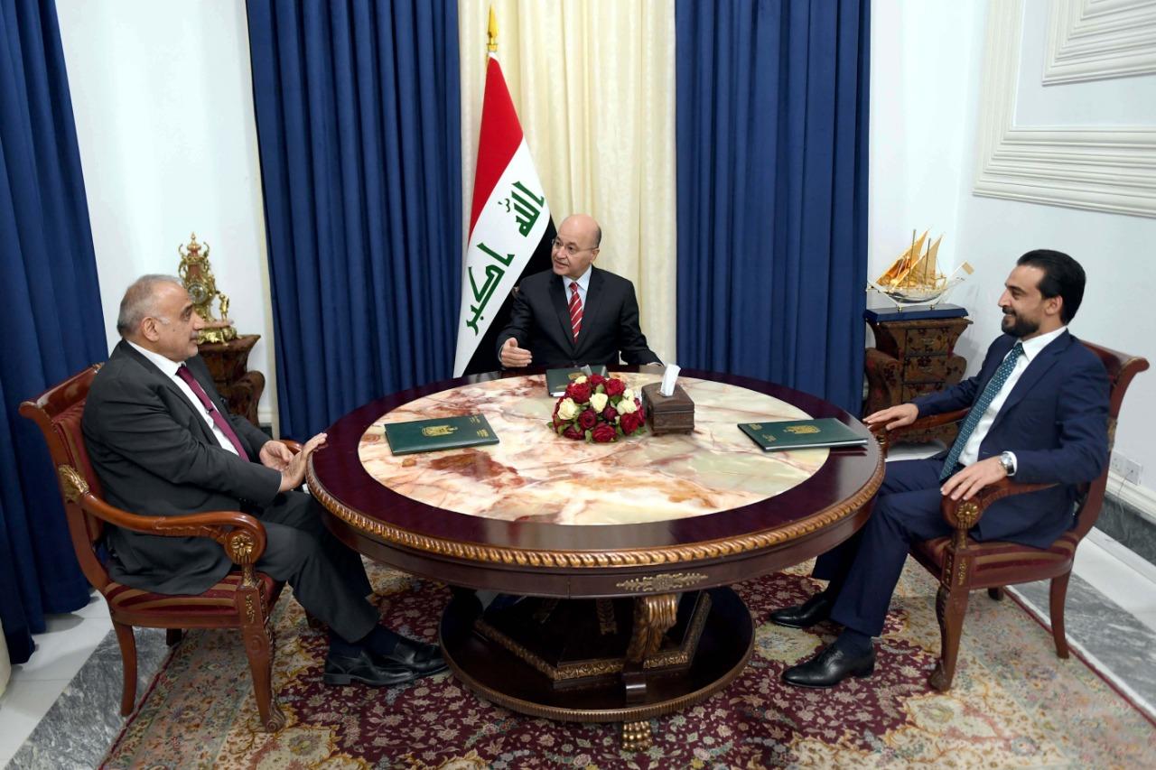 """الرئاسات الثلاث تؤكد على موقف للدولة العراقية من """"الحرب بالوكالة"""""""