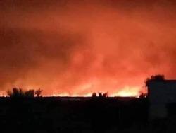 حرائق تلحق أضراراً كبيرة بمنطقة في أربيل ومطالبة باشراك طائرات لاخمادها