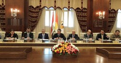 Kurdistan Council of Ministers holds a meeting to discuss the latest developments on the dialogues with Baghdad
