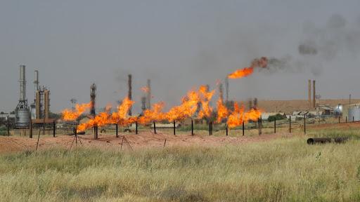 Fires broke out in an oil field northeast of Kirkuk