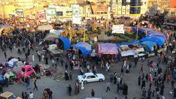 جرحى بانفجار يهز معقل المتظاهرين في الناصرية