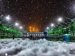 Baghdad and Iraqi cities covered in snow