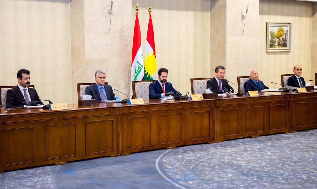 مجلس وزراء اقليم كوردستان يجتمع ومحادثات اربيل وبغداد على طاولته