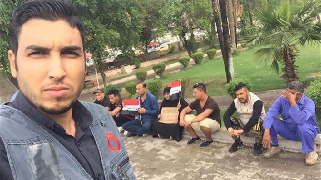 اصابة مراسل تلفزيوني ببغداد بانفجار اسطوانة غاز مسيل للدموع بوجهه