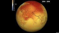 ذوبان تاريخي للجليد في الشهر الاكثر حرارة منذ 140 عاما