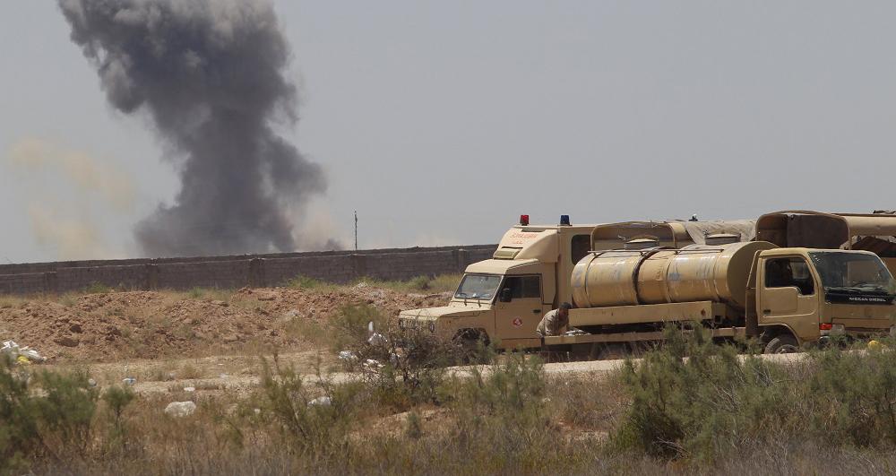 الطيران الحربي يدمر عجلة لارهابيين جنوبي صلاح الدين