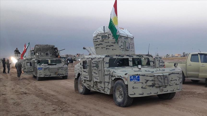 A clash between Peshmerga and an Iraqi force near Garmyan