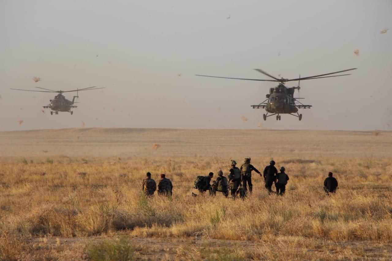 الدفاع العراقية تعلن قتل عدد من الارهابيين وتدمير مقر في خانقين