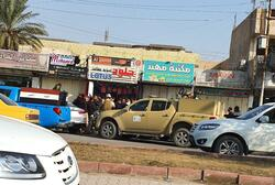 A shop owner who provides aid to the protests killed in the capital Baghdad