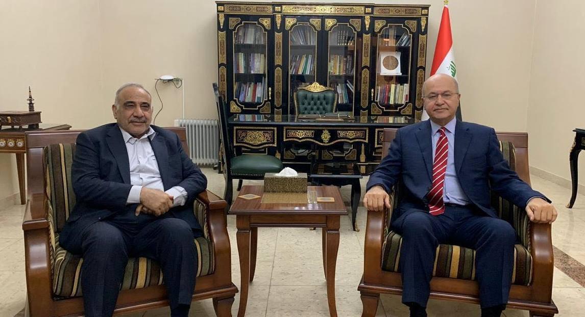 صالح وعبد المهدي يتفقان على ضرورة النأي عن سياسة و حل مشاكل كركوك وديالى