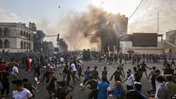 International organization: 7 demonstrators kidnapped, including a boy in Tahrir Square in central Baghdad