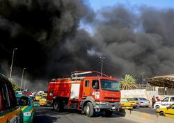 """اندلاع حريق في سوق """"هرج"""" بالكاظمية في بغداد"""