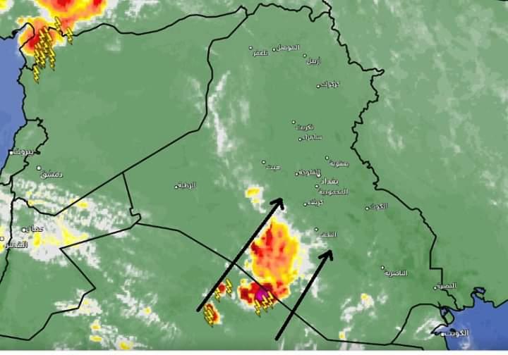 """العراق يتعرض لمنخفض """"خماسيني"""" جديد منتصف الاسبوع المقبل"""