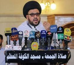 خطيب صدري يفصح عن مراهنة الحكومة العراقية على آمرين لإنهاء الاحتجاجات