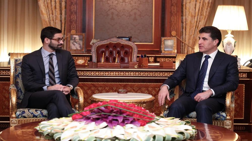 بارزاني لوفد أمريكي: أوضاع العراق تؤثر علينا ونريد حل المشاكل مع بغداد بالحوار