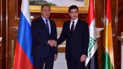 رئيس اقليم كوردستان يلتقي لافروف ويبحثان عدة ملفات